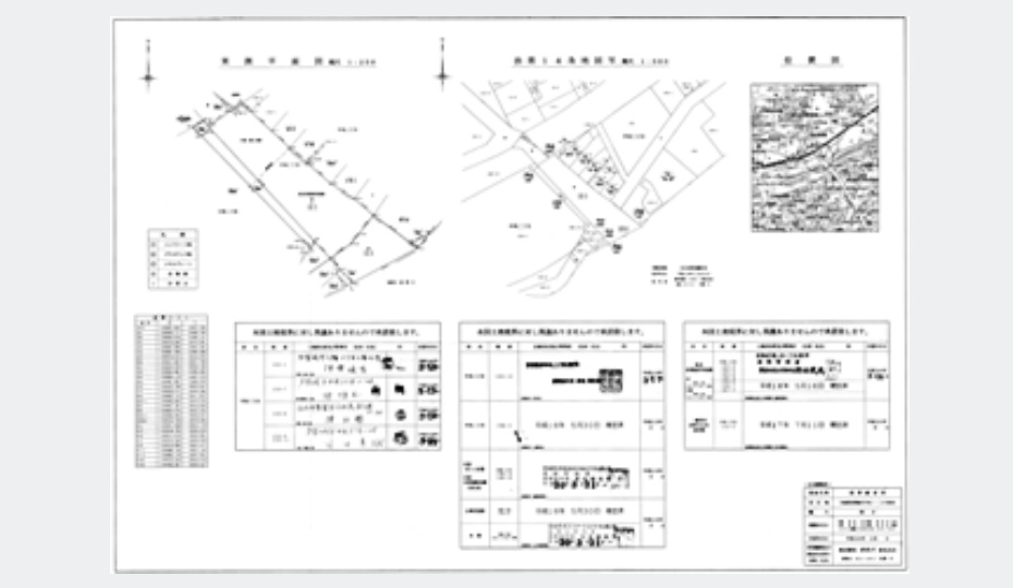 土地面積確定図